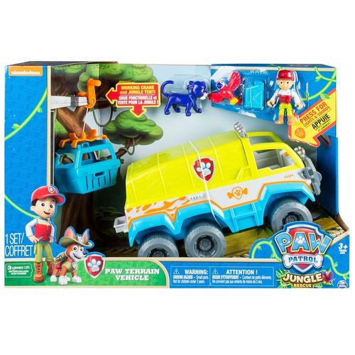 patrulha canina veículo resgate na selva sunny