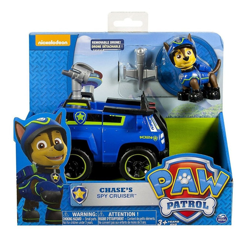 patrulla cachorros paw patrol chases spy vehiculo con figura