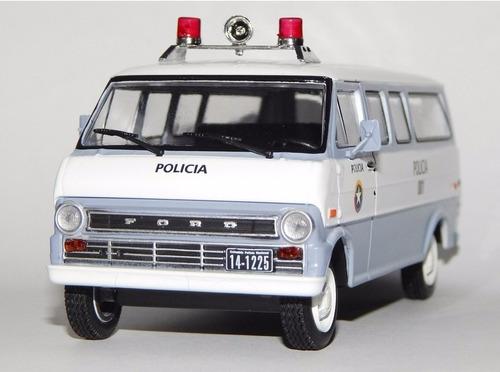 patrulla camioneta van policia colombia bogota 80's 1:43