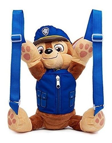 patrulla canina - morral maleta  de peluche de chase