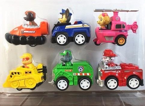 patrulla canina- paw patrol set 6 autos envío gratis