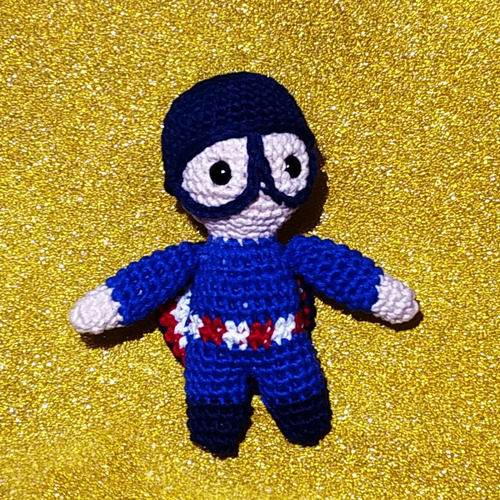 pattern captain america amigurumi