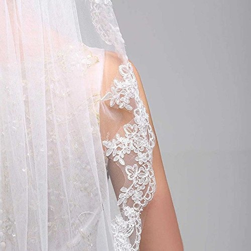 patty both simple elegent apliques de encaje velo de novia c