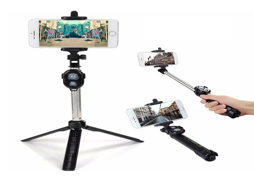 pau de selfie monopod tripe bastão retrátil celular galaxy
