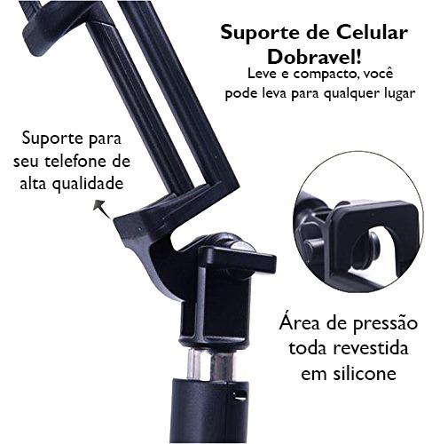 pau selfie bastão monopod bluetooth usb universal zpg-3 nf
