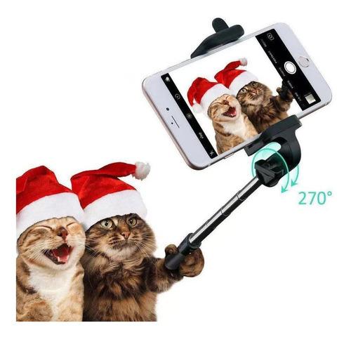 pau selfie bastão monopod universal com disparo via cabo p2