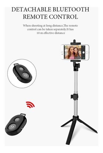 pau selfie monopod + tripé profissional controle bluetooth
