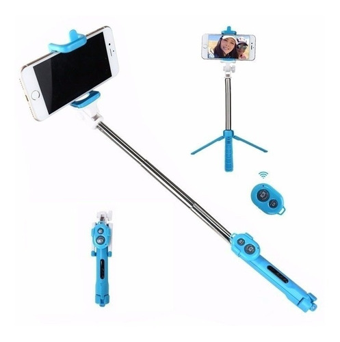 pau selfie tripe bastão controle bluetooth monopod celular