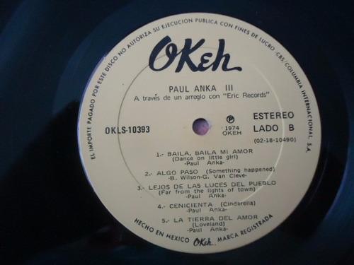 paul anka 3 vinyl lp acetato