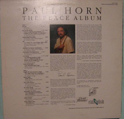 paul horn - the peace album - 1988
