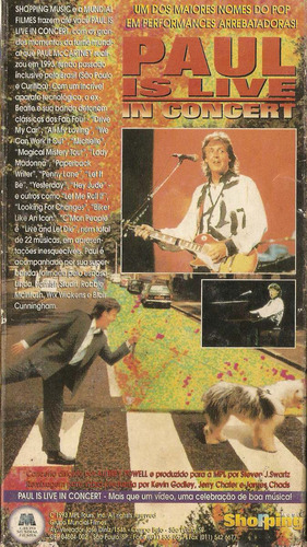 paul is live in concert - vhs - 1993 - paul mccartney
