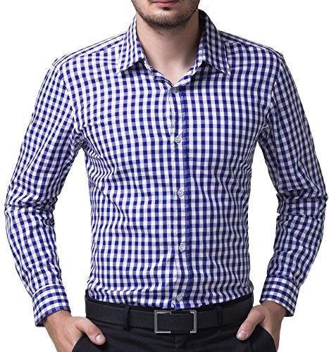 da9be15c22b12 Paul Jones Camisa A Cuadros Azul Y Blanca Para Hombres Ca ...