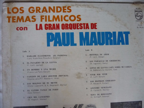 paul mauriat/grandes temas fílmicos/disco vinilo