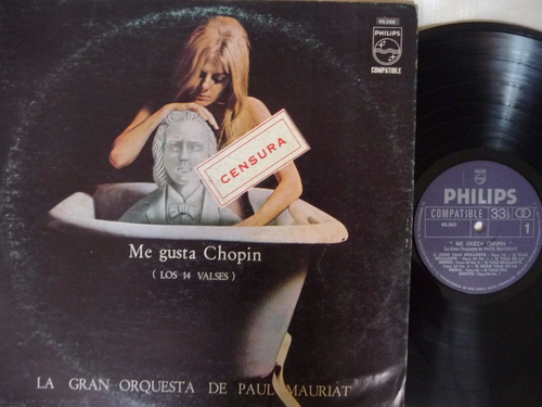 paul mauriat/me gusta chopin (los 14 valses)/disco vinilo