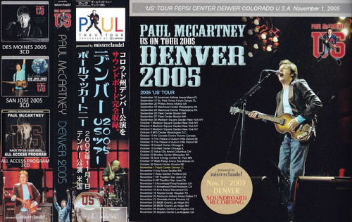 **paul mccartney (beatles) **denver 2005** cd duplo japan**