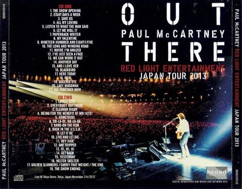 **paul mccartney (beatles) **out there in tokyo** cd duplo**
