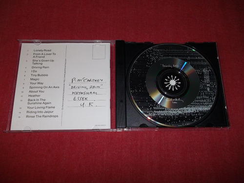 paul mccartney - driving rain cd imp ed 2001 mdisk