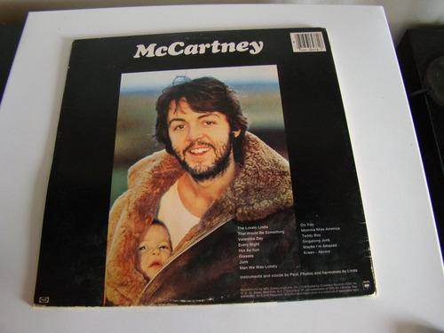 paul mccartney mc cartney lp apple usa excelente estado