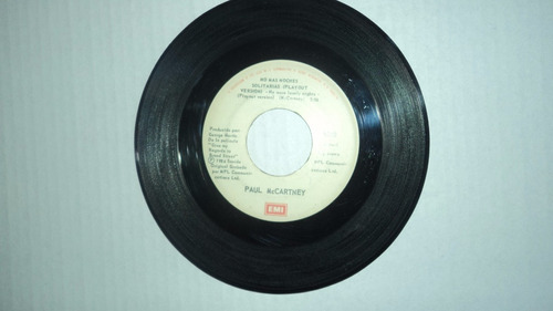paul mccartney - no mas noches / 45 rpm emi 1984