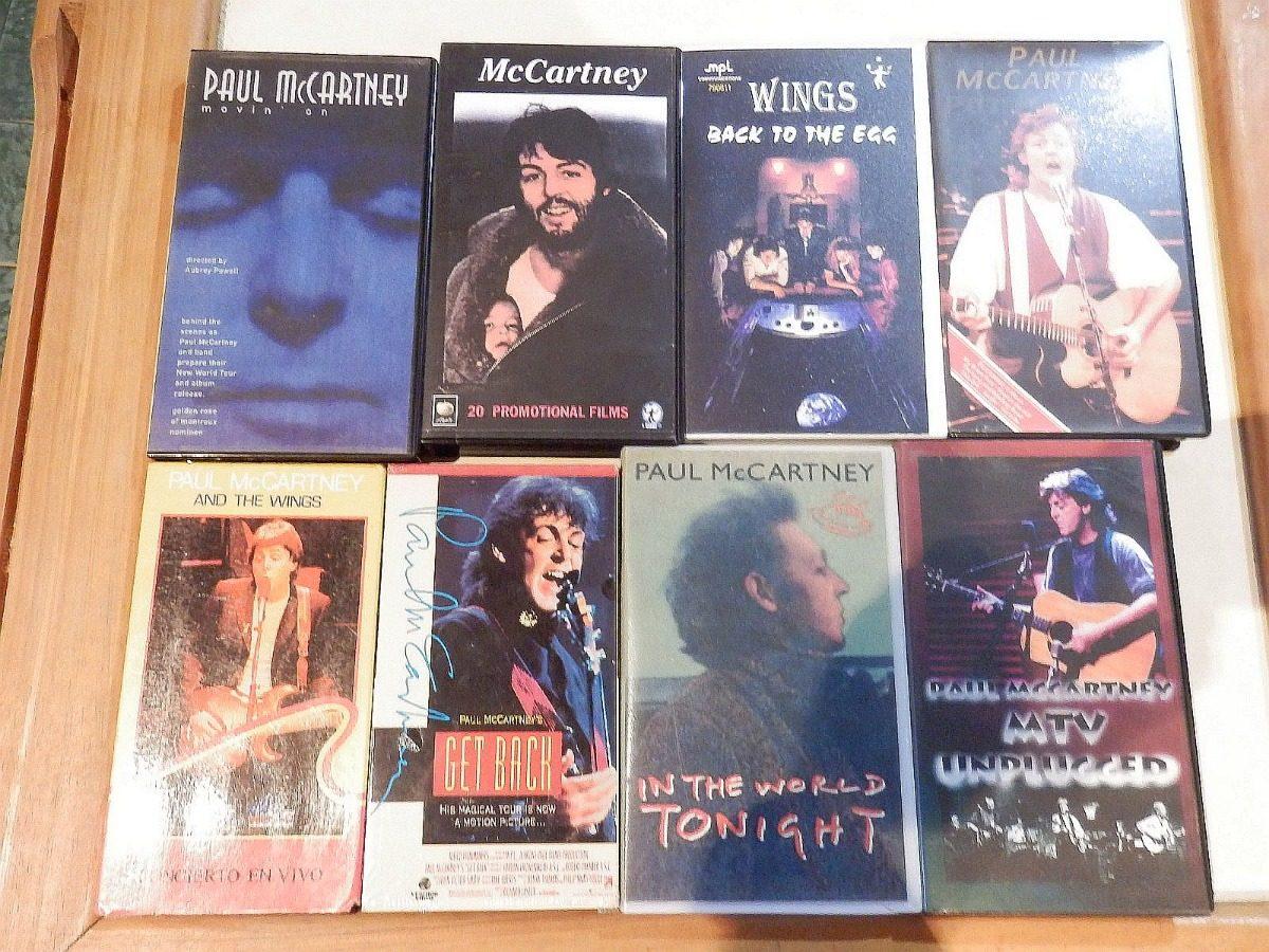 Paul Mccartney - Videos Vhs - Rarezas - Bootlegs Colección 1 - Bs  0,20