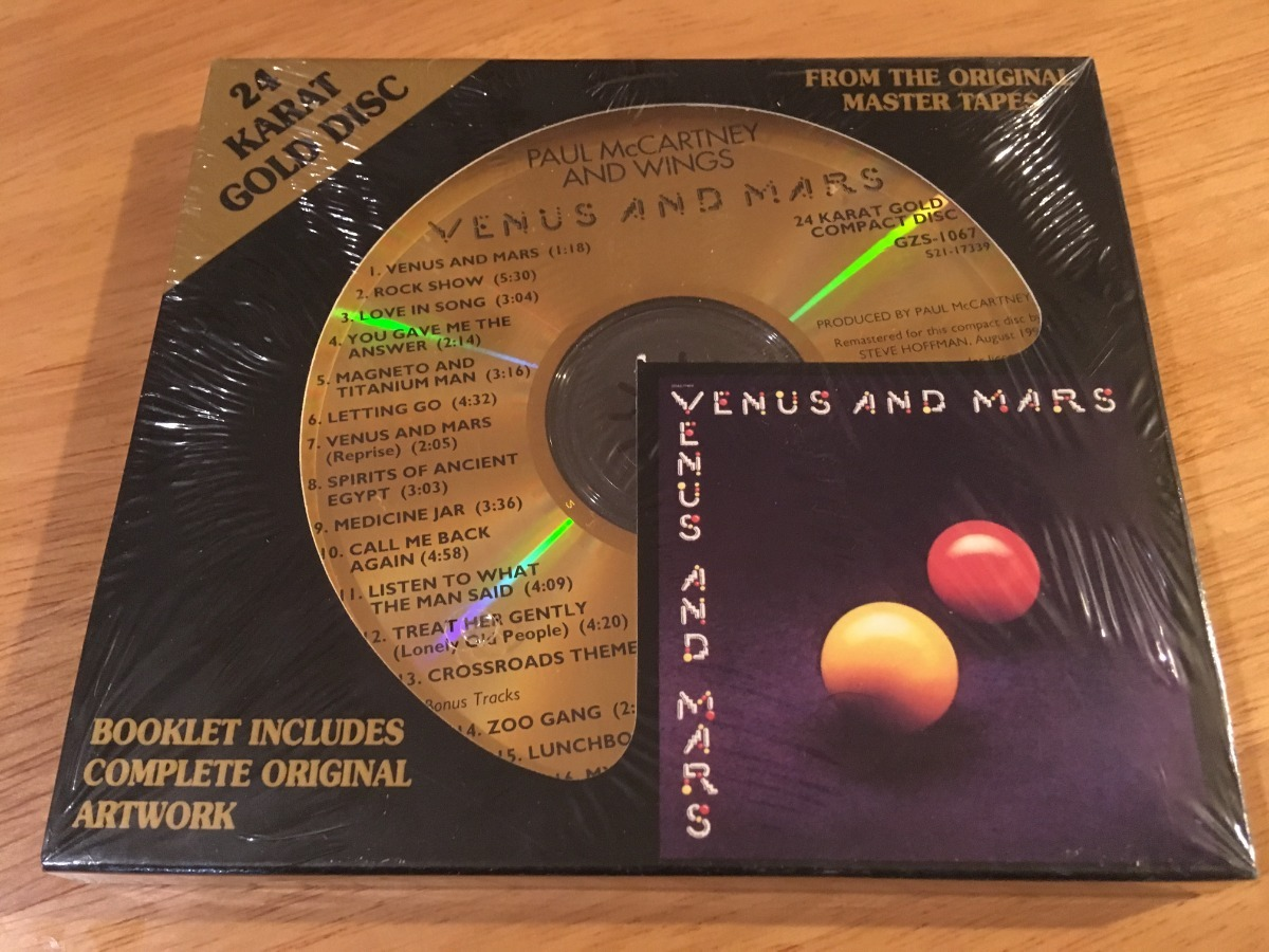 Paul Mccartney & Wings Venus And Mars Dcc Gold Cd Sellado