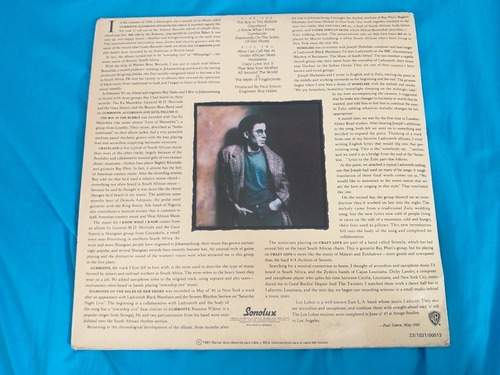 paul simon i know what i know/ you can call me lp 1987