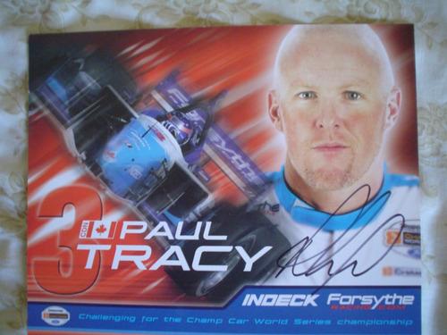 paul tracy foto autografiada champ car