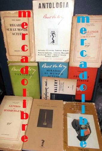 paul valery. lote de 11 libros raros
