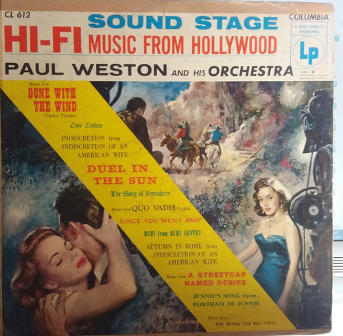 paul weston - sound stage hi-fi music from hollywood (lp)