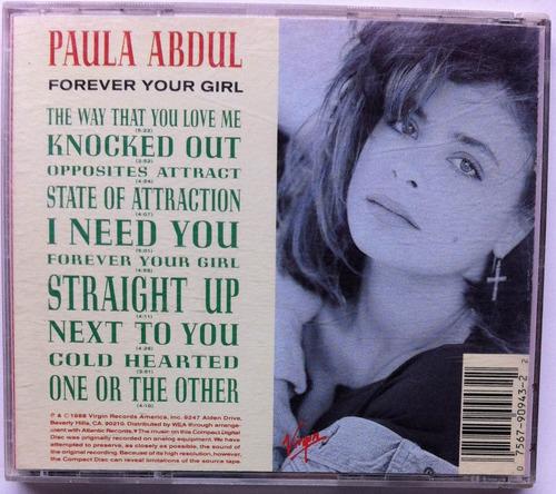 paula abdul. forever your girl. cd original, buen estado