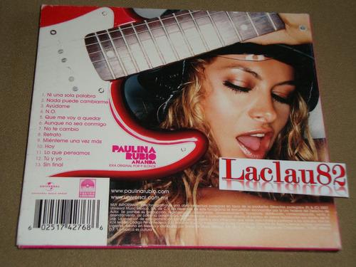 paulina rubio ananda 2007 universal cd digipack