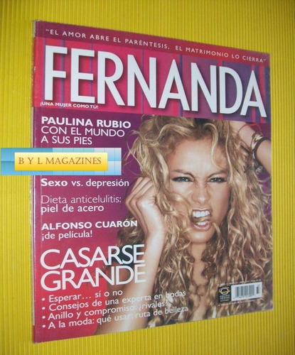 paulina rubio revista fernanda 2007