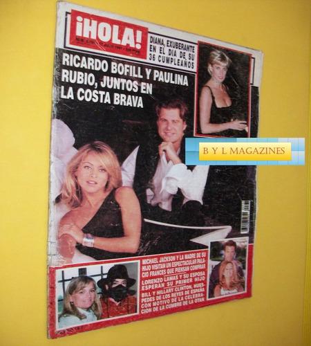 paulina rubio revista hola españa 1997 timbiriche m jackson