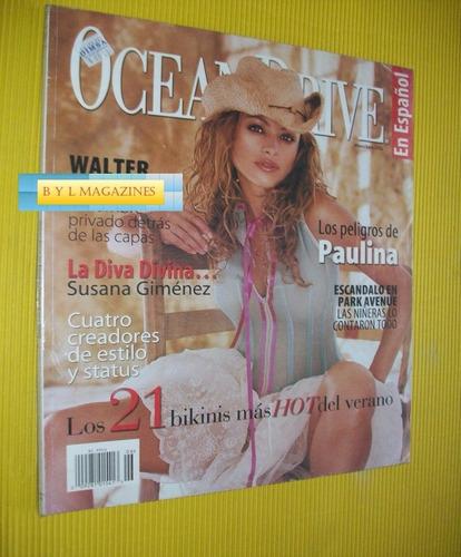 paulina rubio revista ocean drive 2002 de usa