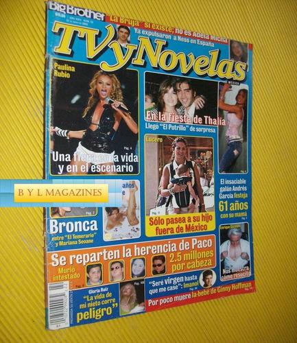 paulina rubio thalia revista tv y novelas lucero pilar monte