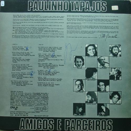 paulinho tapajós amigos e parceiros - lp mpb 1980 c/ encarte