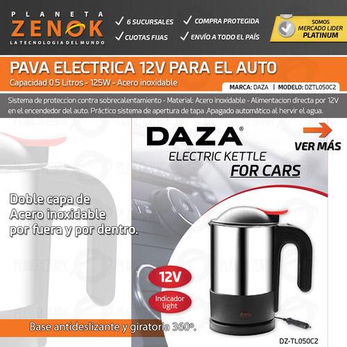 pava electrica 12v para el auto vehiculo acero inoxidable viaje