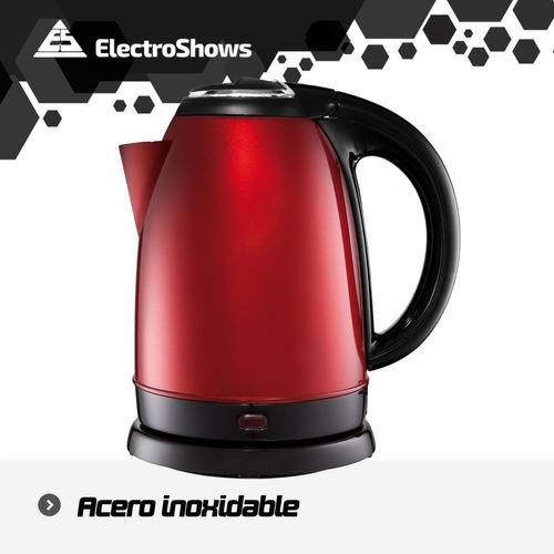 pava electrica mate cafe jarra acero inoxidable 1.8lts 1500w