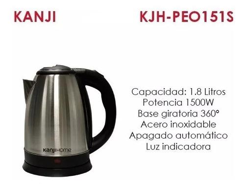 pava eléctrica metalica de 1.8 litros kanji kjh-peo151s