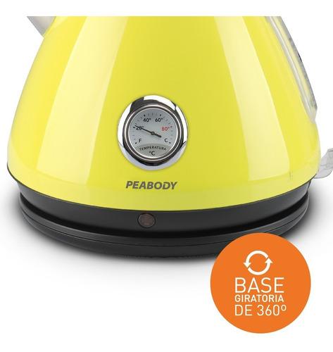 pava electrica peabody 1,7 lts kv8213 termometro retro color