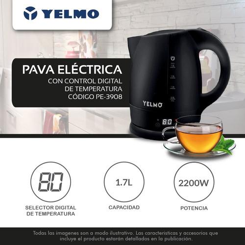 pava electrica yelmo 1.70 lts 2200w selector temperatura
