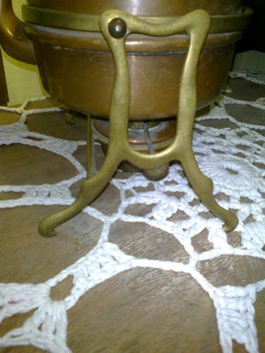 pava en cobre, hermosisima antigua,