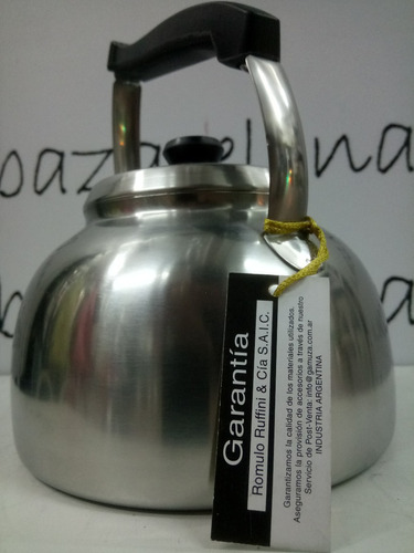 pava gamuza platino de acero pico curvo 1,5 mango baquelita
