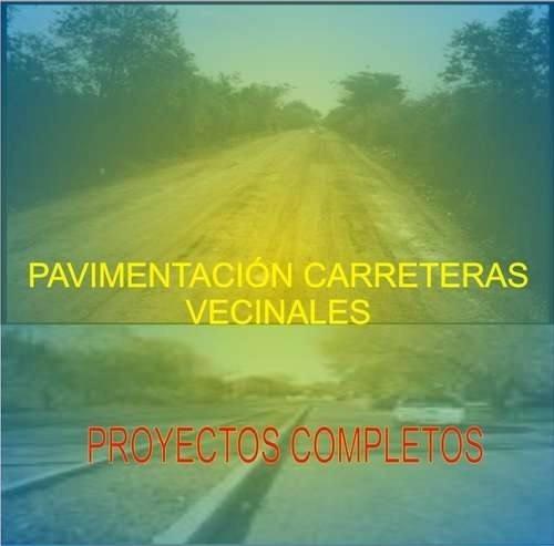 pavimentacion carreteras vecinales proyectos complet 40 sole