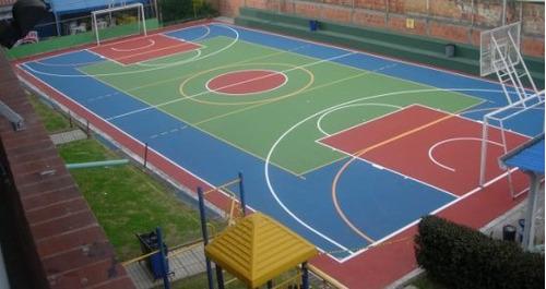 pavimento deportivo por capas de alta duración