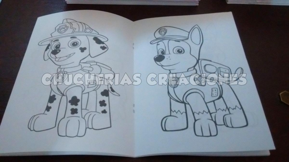 Paw Patrol 30 Cuadernos 15x21cm P/colorear Patrulla Canina - $ 578 ...