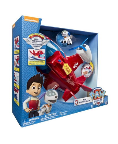 paw patrol avion air patroller con figura collagekidsar