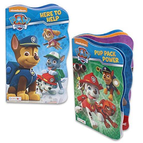 paw patrol board book set - 2 libros con forma de tablero