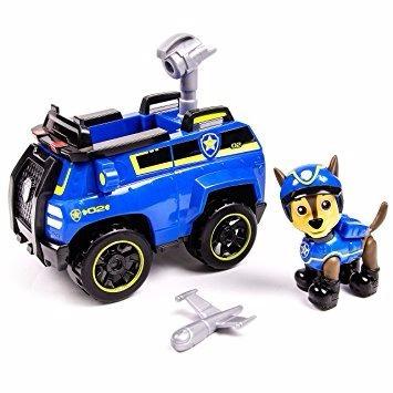 paw patrol chase's figura grande + vehiculo original  u s a