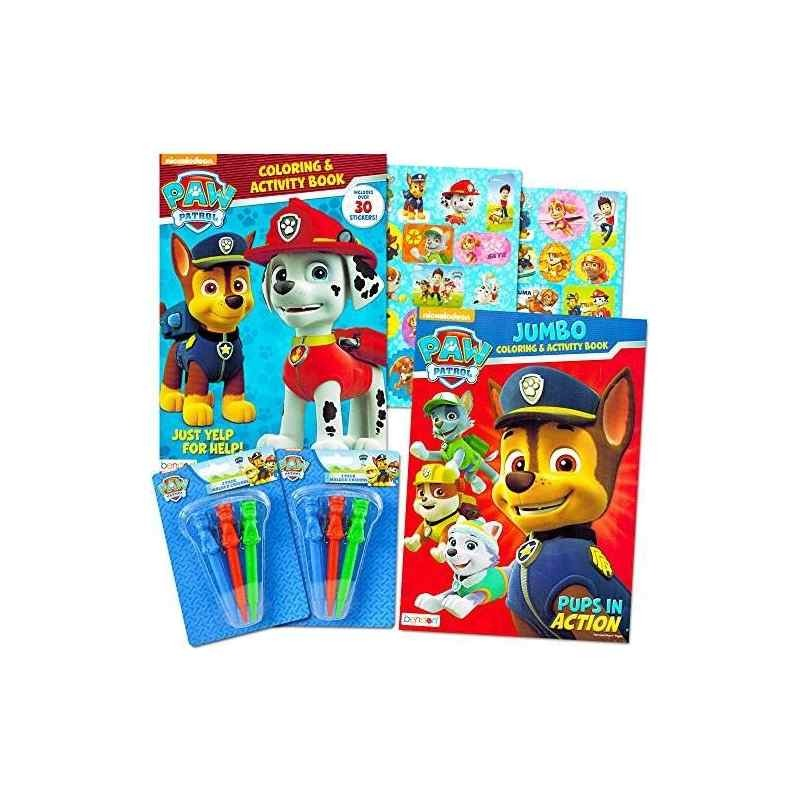 Paw Patrol Coloring Book Super Set - 2 Libros De Colorear Y ...